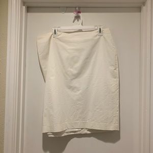 Ann Taylor White Pencil Skirt